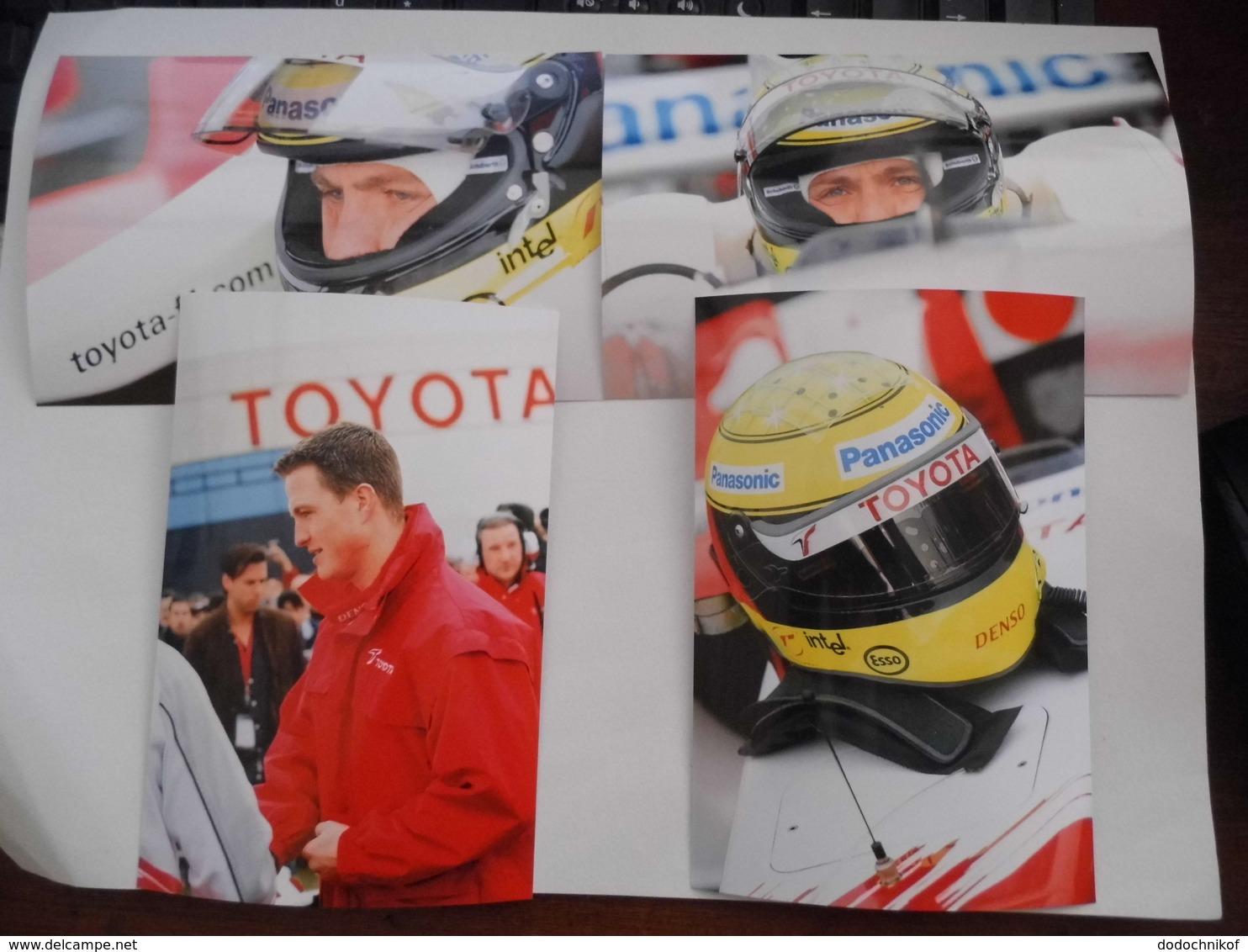 4 Photos De Ralf Schumacher - F1 TOYOTA - Photo Très RARE - Automobile - F1