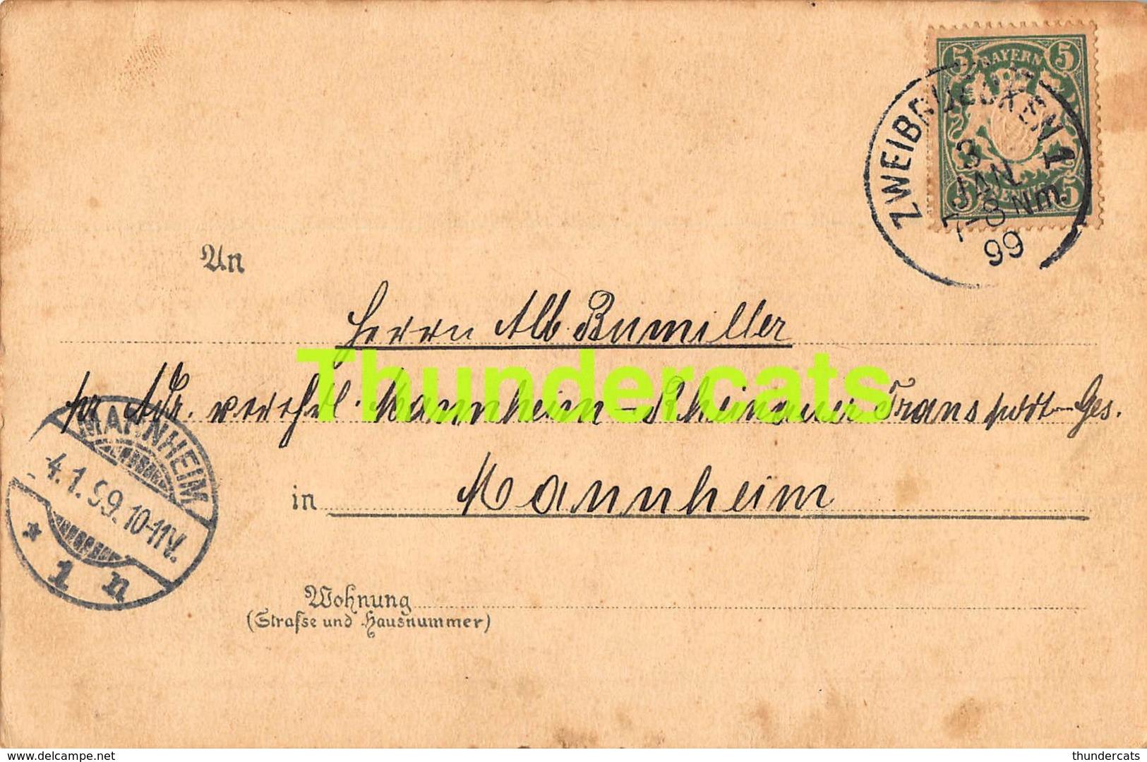 CPA  LITHO 1899 METZ TUBINGEN HOLD TO LIGHT BITTE GEGEN DAS LICHT ZU HALTEN - Halt Gegen Das Licht/Durchscheink.