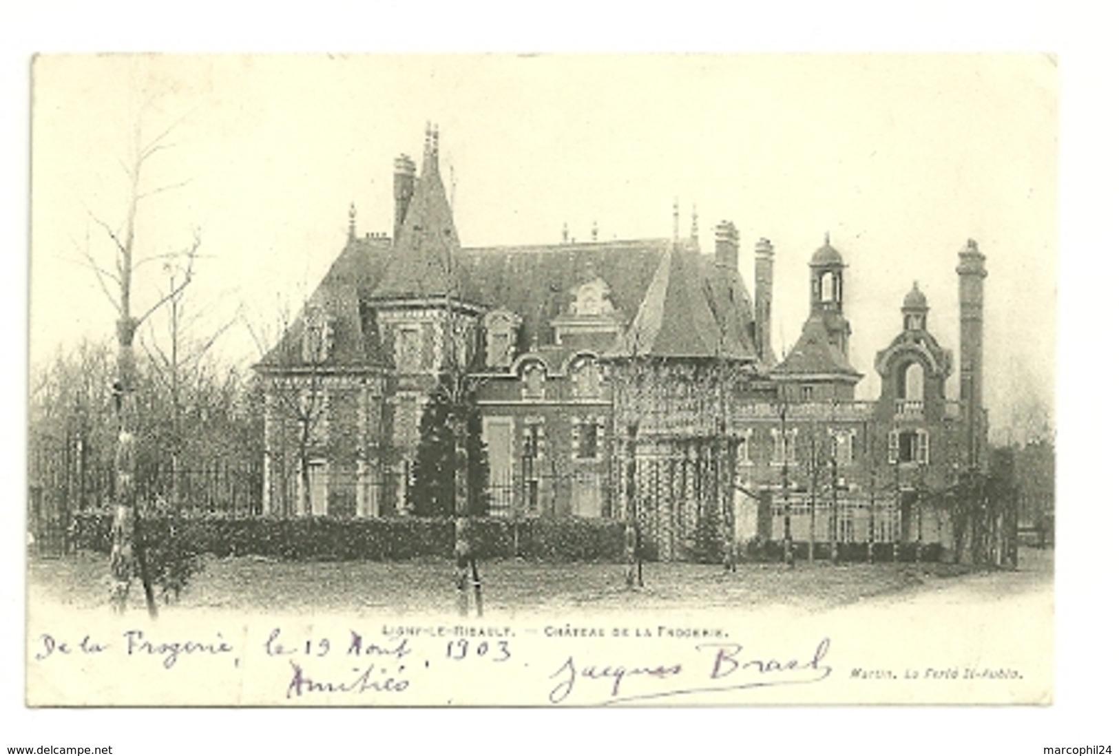 LOIRET - Dépt N° 45 = LIGNY Le RIBAULT 1903 = CPA DND Edition MARTIN = CHATEAU De La FROGERIE + Arbres Empaillés - France