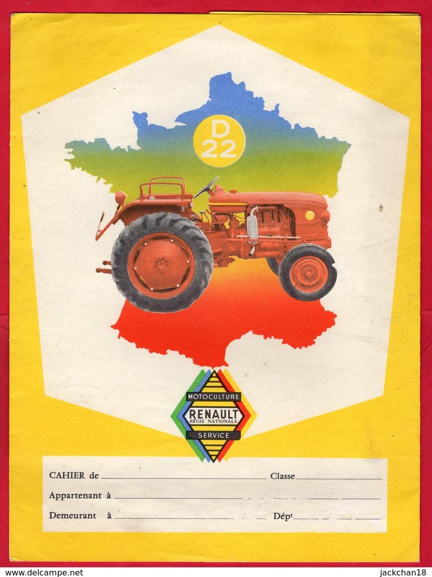 """-- PROTEGE CAHIER - RENAULT Motoculture Service - TRACTEUR """"D 22"""" - Agriculture"""