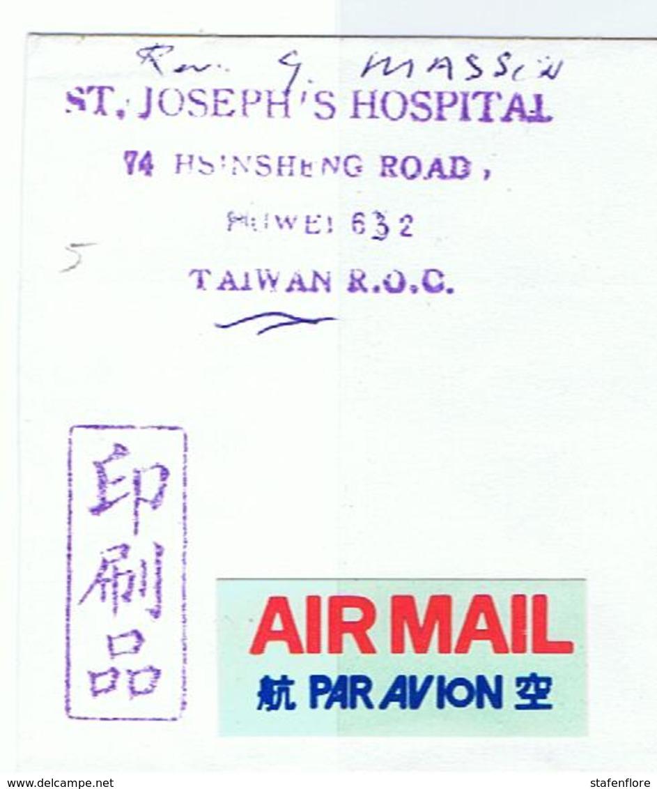 Mooie Omslag St. Joseph's Hospital In Taiwan - Taiwán (Formosa)