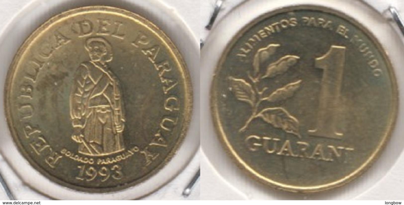 Paraguay 1 Guaraní 1993 (F.A.O.) KM#192 - Used - Paraguay