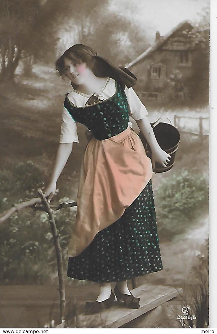 CPSM - Portrait De Jeune  Fille Paysanne. - Agricoltura