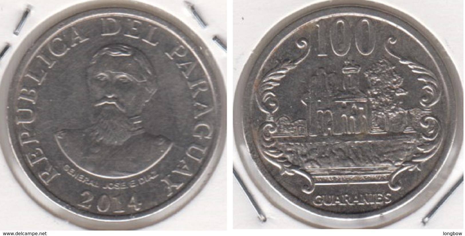 Paraguay 100 Guaranies 2014 KM#177b - Used - Paraguay