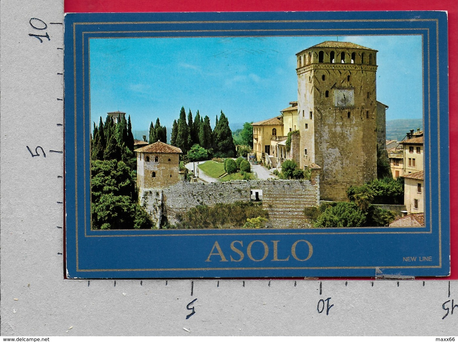 CARTOLINA VG ITALIA - ASOLO (TV) - Il Castello - 10 X 15 - ANN. 1987 - Treviso