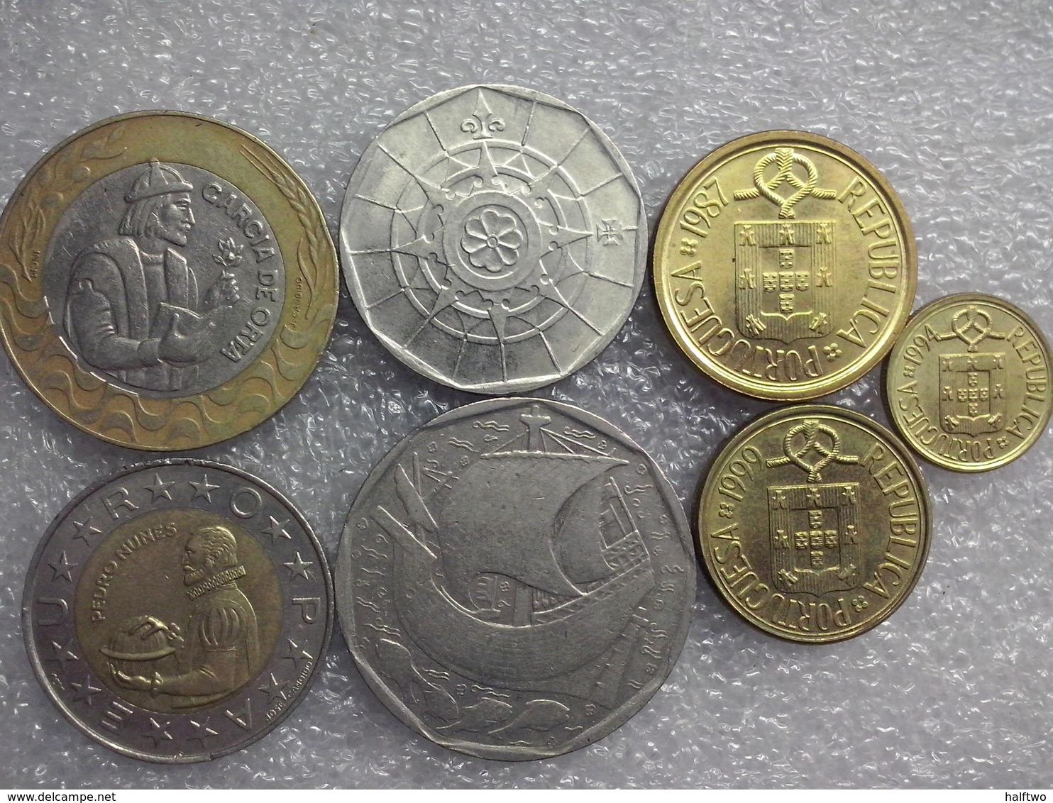 Portugal  Preeuro Set : 1 - 200 Escudos - Portugal