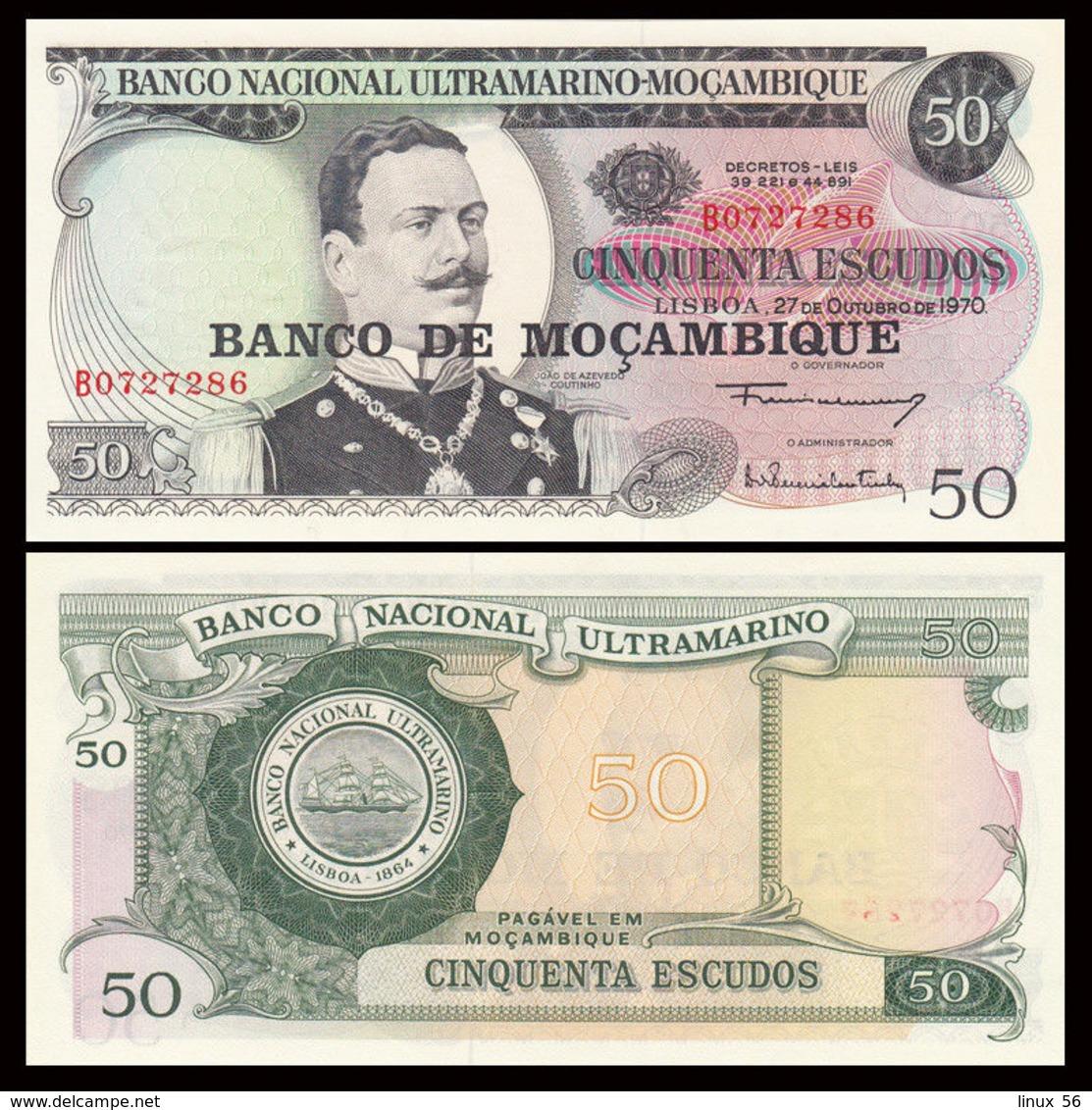 MOZAMBIQUE - 50 Escudos Nd.(1976 - Old Date 27.10.1970) UNC P.116 - Mozambique
