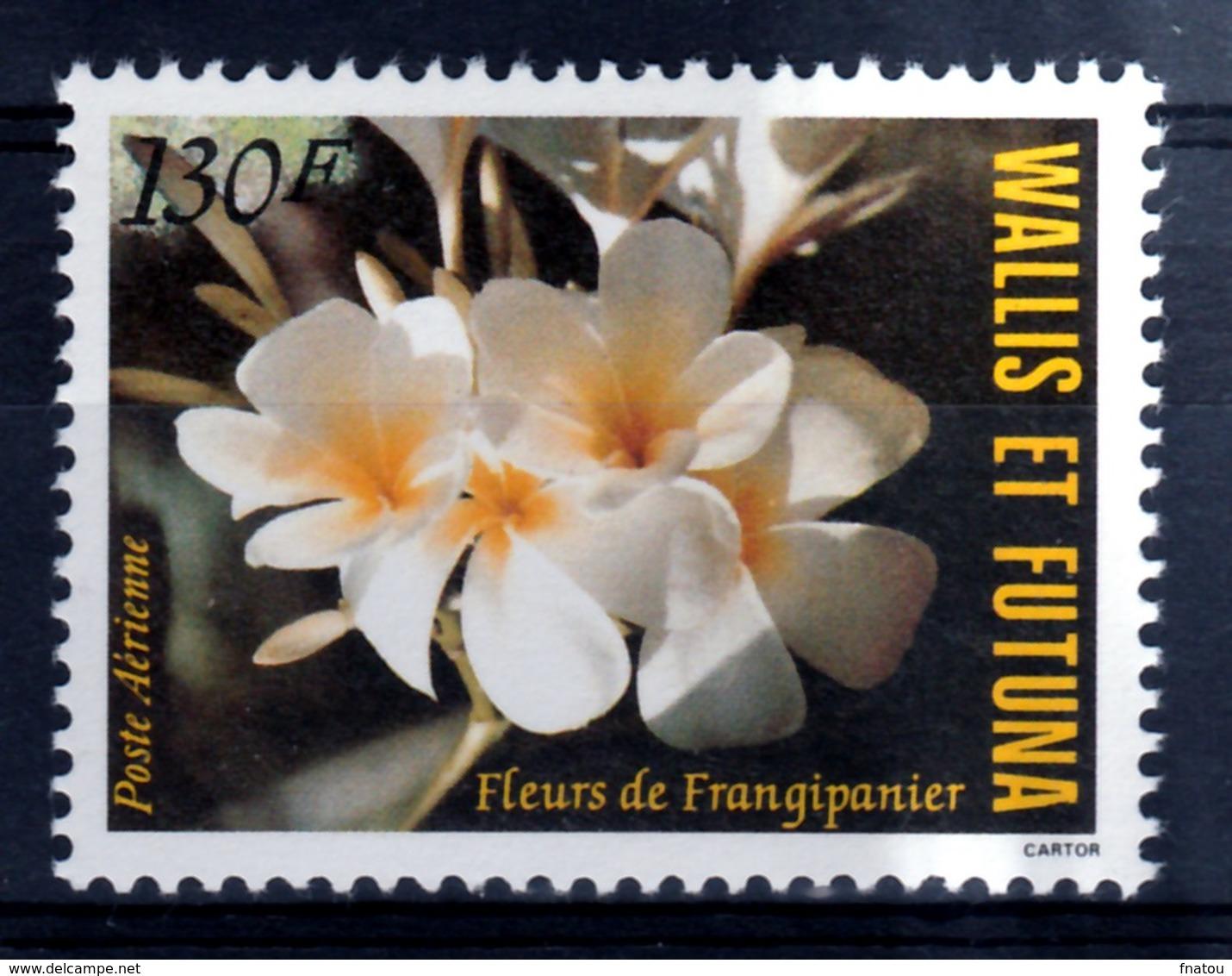 Wallis And Futuna, Flower Of Plumeria (frangipani), 1984, MNH VF  Airmail - Airmail