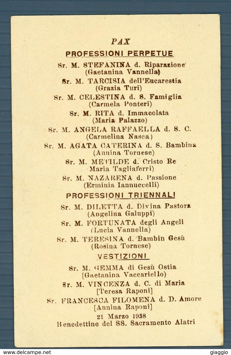°°° Alatri - Benedettine Del Ss. Sacramento 21 Marzo 1938°°° - Frosinone