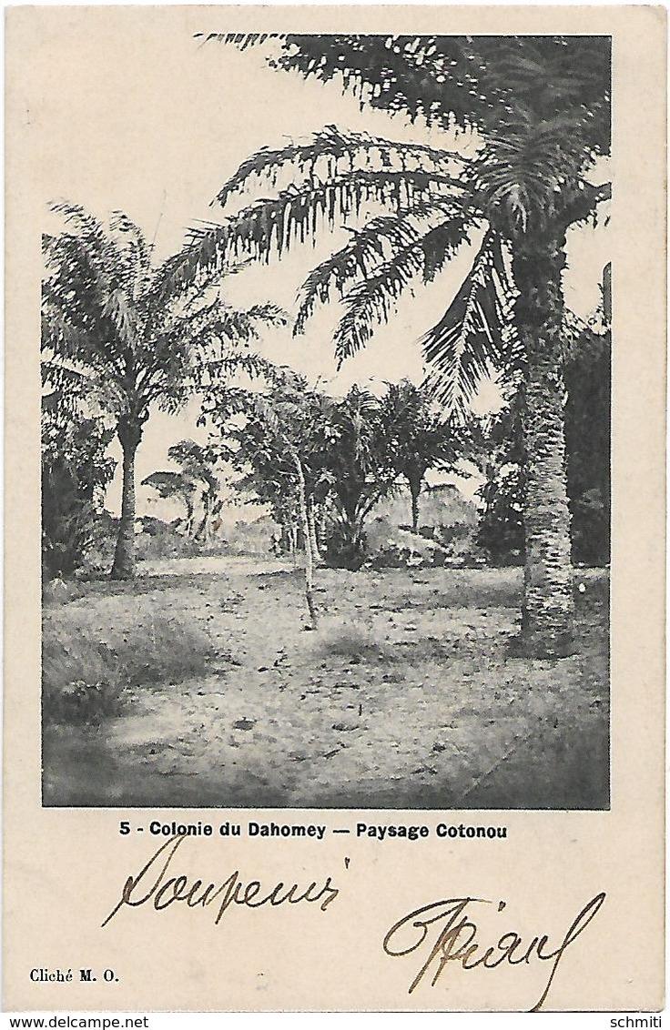 -Colonie Du Dahomey,paysage COTONOU,(maison Au Fond-Avril 1906-Envoyévers Ganges(Hérault) - Dahomey