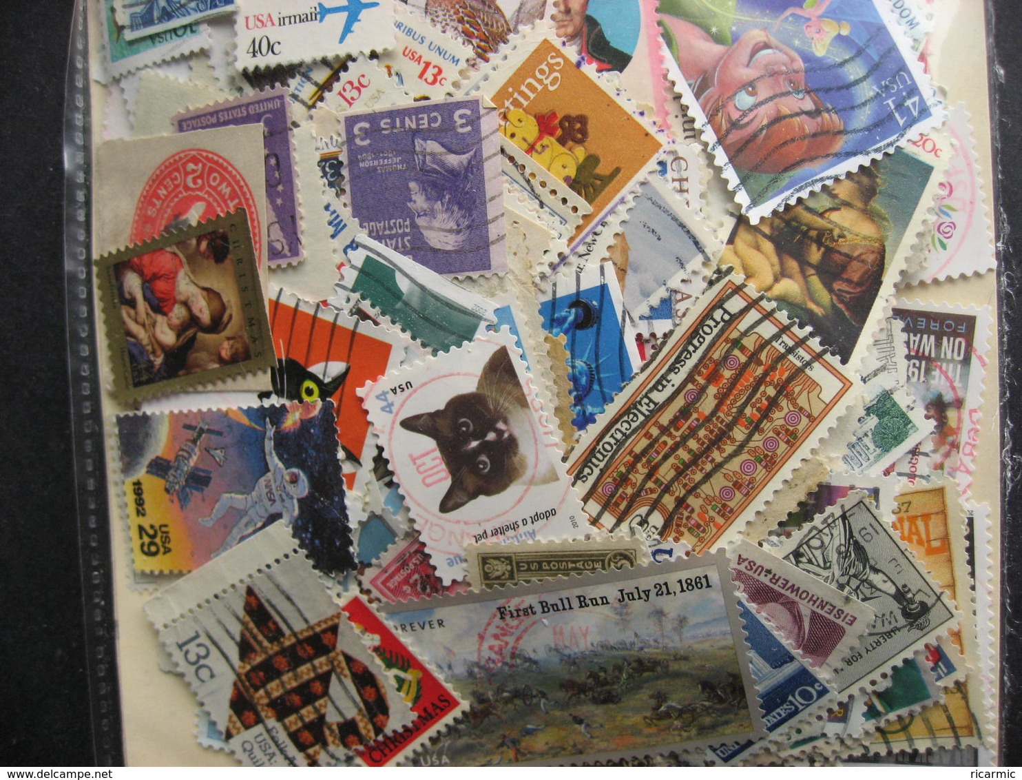 USA Colossal Mixture (duplicates, Mixed Condition) 2000 About 40% Commemoratives, 60% Definitives - Timbres