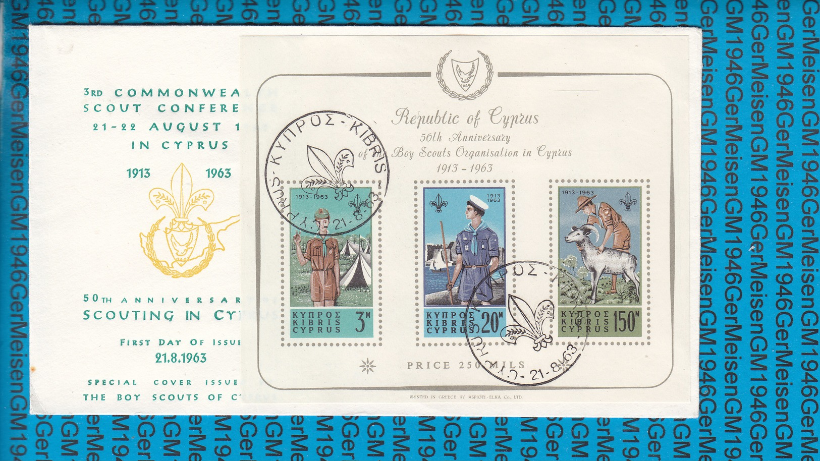 Cyprus FDC Cover 1963 / 50th.anniv.Boy Scouts Organisation In Cyprus Bl.1 - Scoutisme