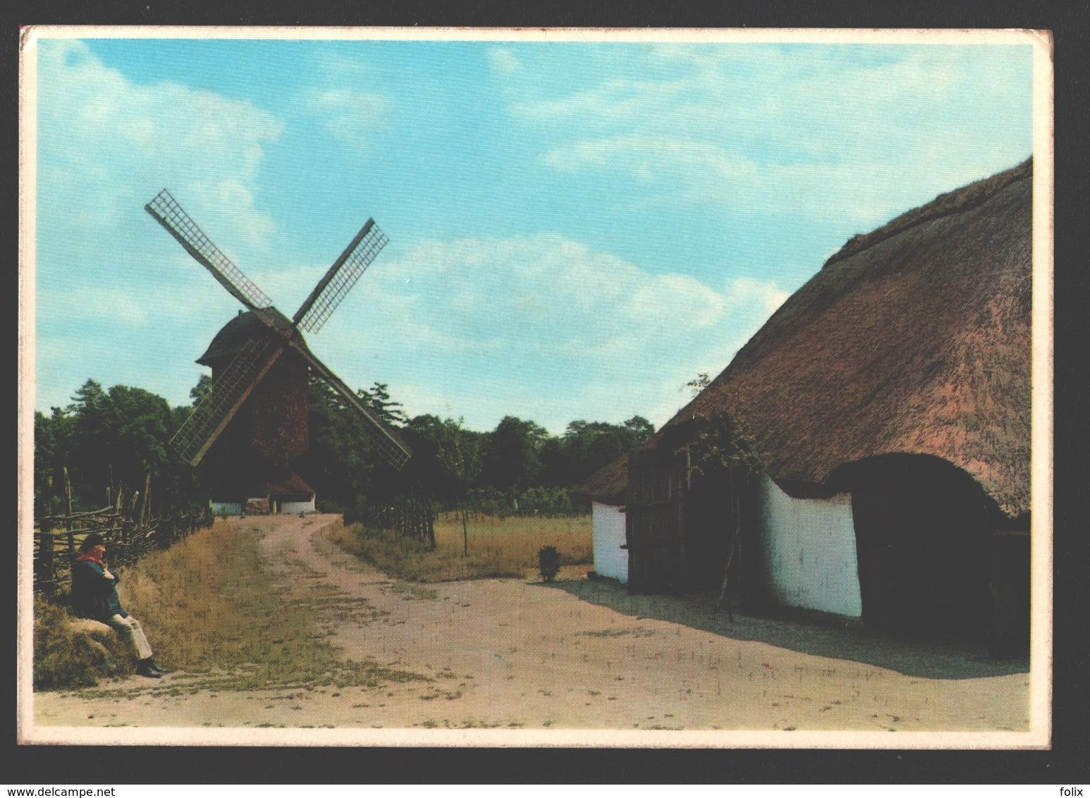 Genk - Domein Bokrijk - Standerdmolen Uit Mol-Millegem En Schuurtje Uit Mol-Sluis - Moulin / Mill - Genk