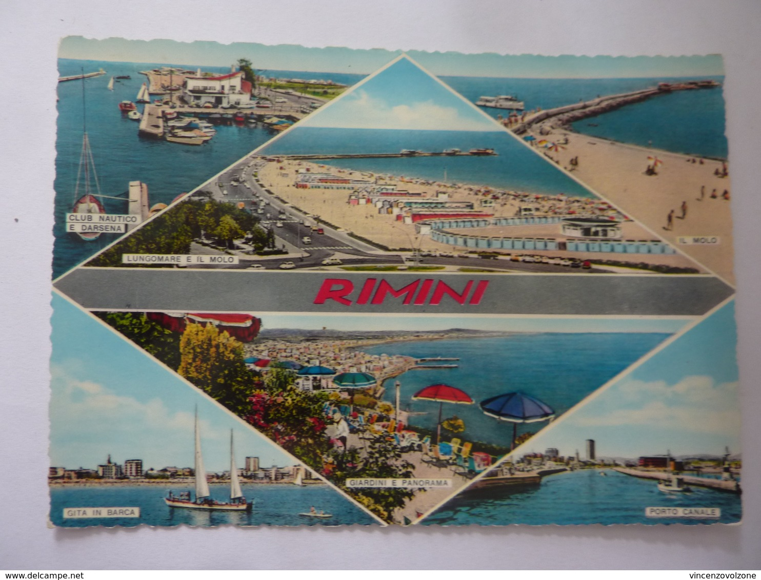 "Cartolina Viaggiata ""RIMINI"" 1963 - Rimini"