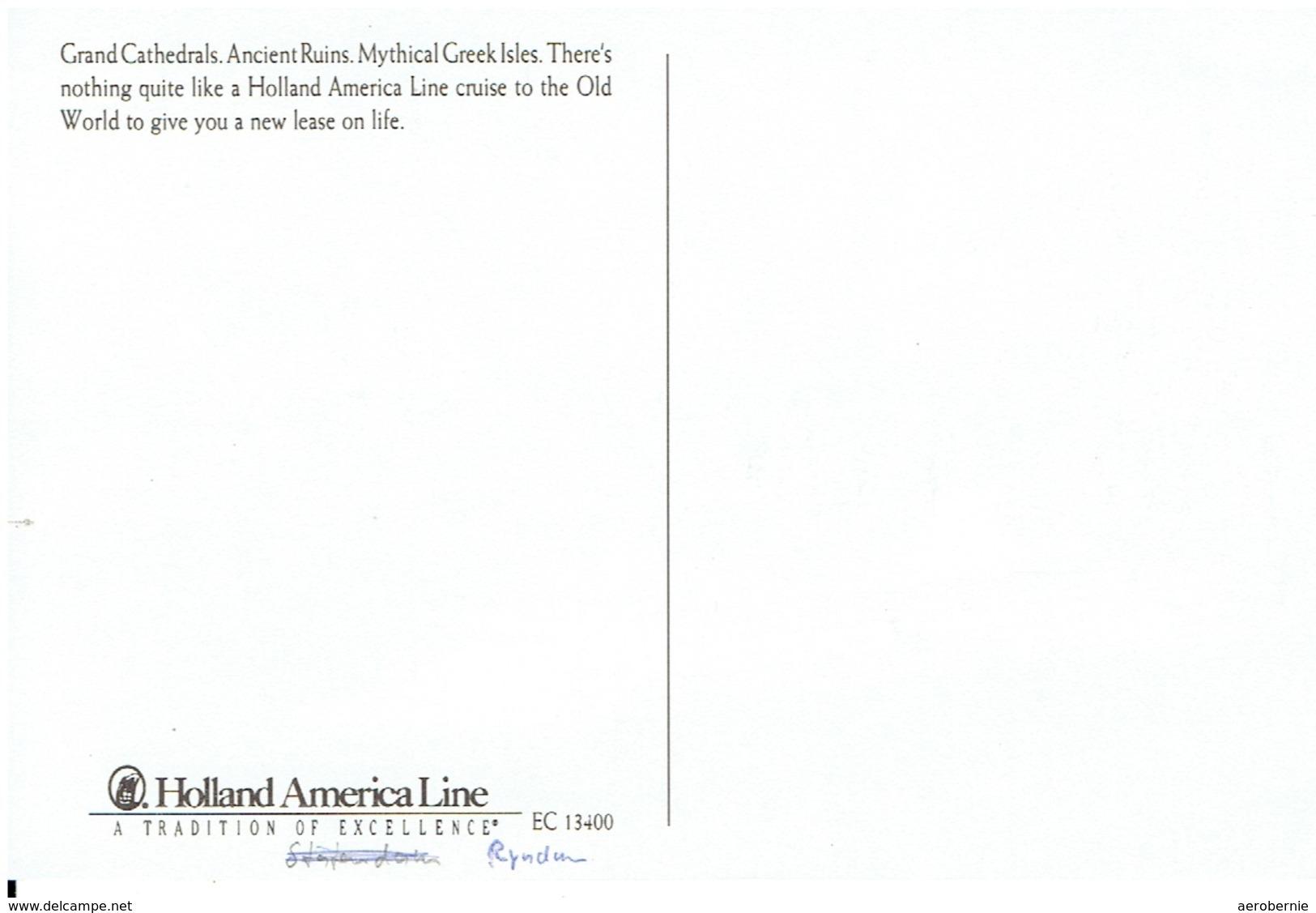 RYNDAM - Holland America Line  (company Issue) - Dampfer