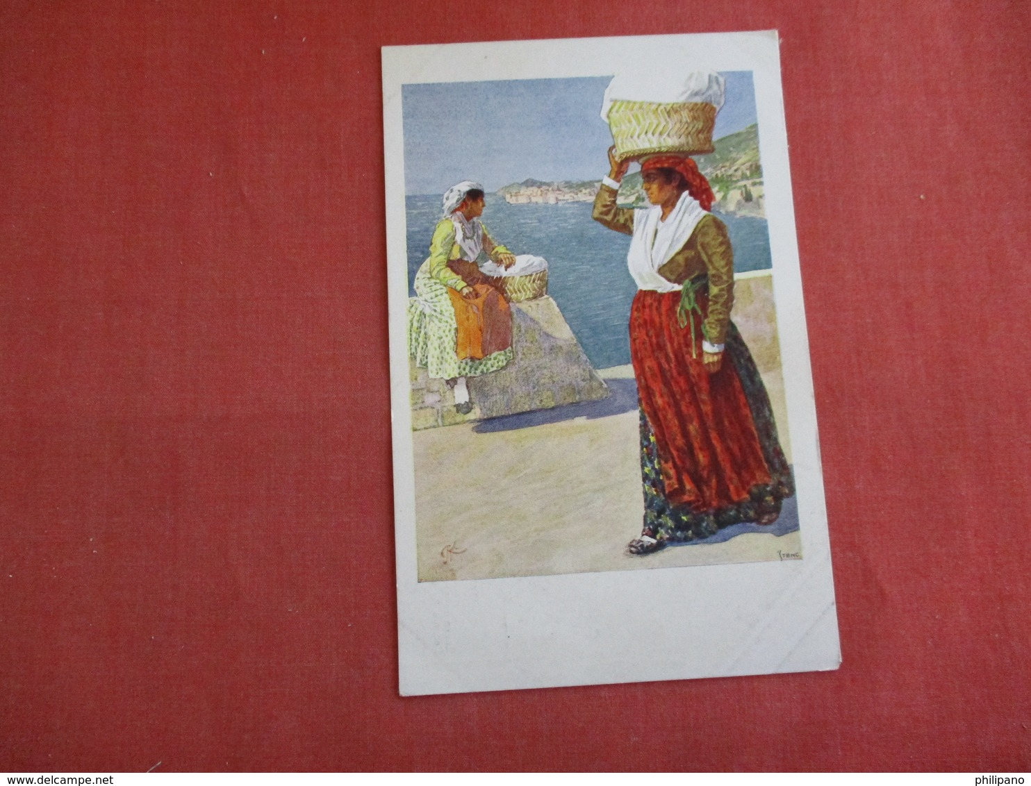 Female Costume  Signed Artist Ref 3134 - Europe