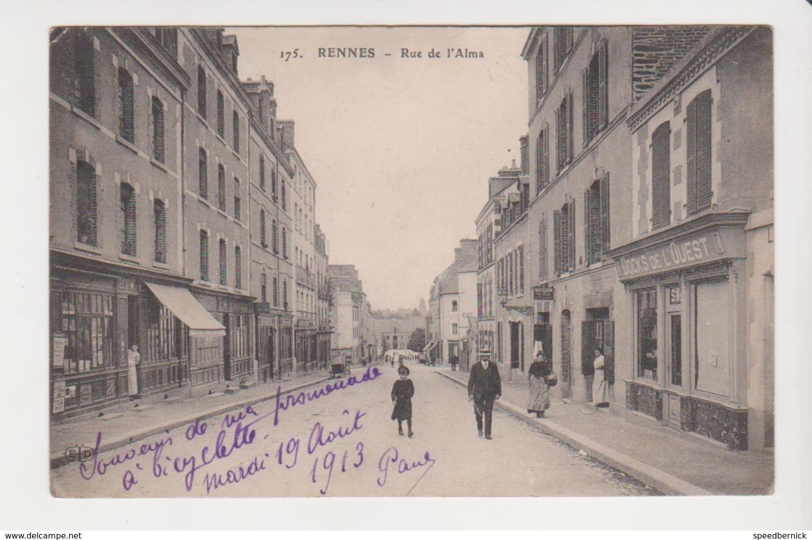 26669 Rennes 35F Rue De L' Alma Docks Ouest -ed ELD 175-  Chateau Montagne Guerche Bretagne - Rennes