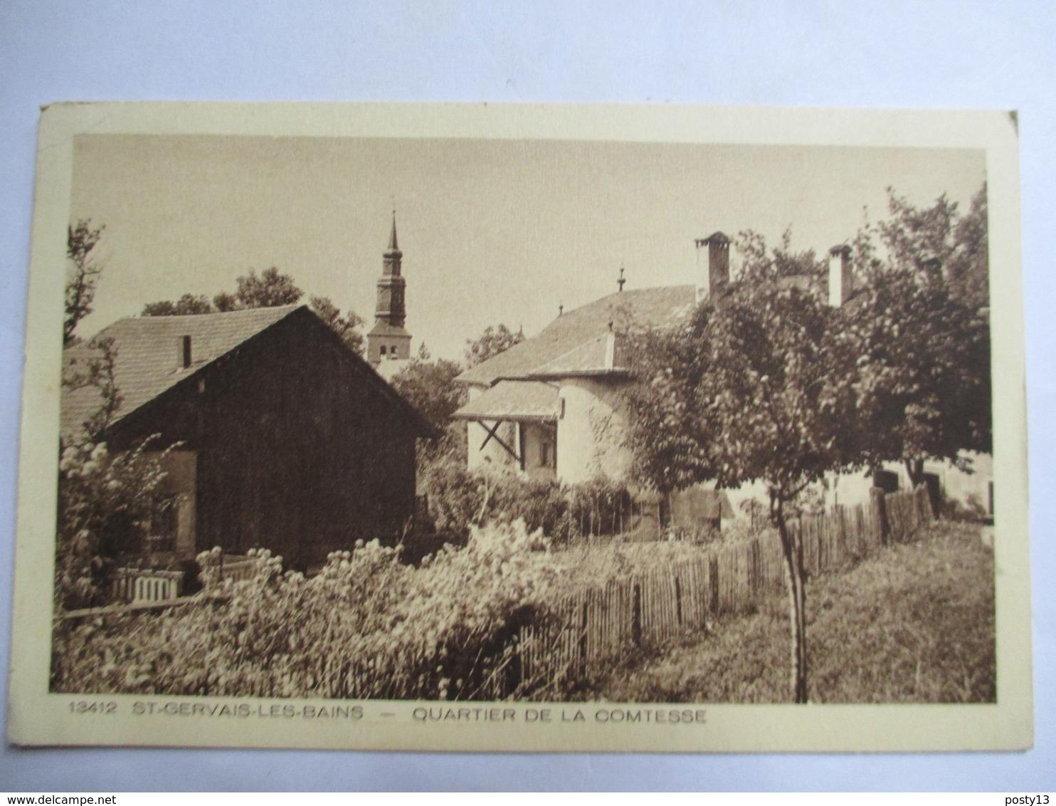 Saint-Gervais-les-Bains (74) - Quartier De La Comtesse - CPSM 9x14 - 1934 - Au Dos Cachet DAGUIN - TBE - Saint-Gervais-les-Bains