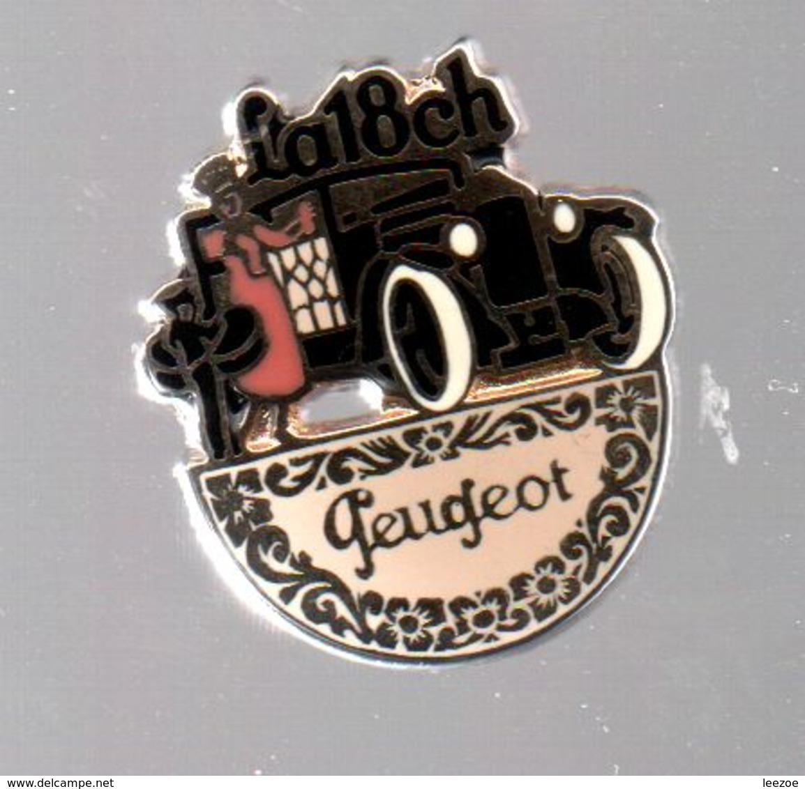 Pin's LA 18 CH PEUGEOT PAR HELIUM PARIS.....BT4 - Peugeot