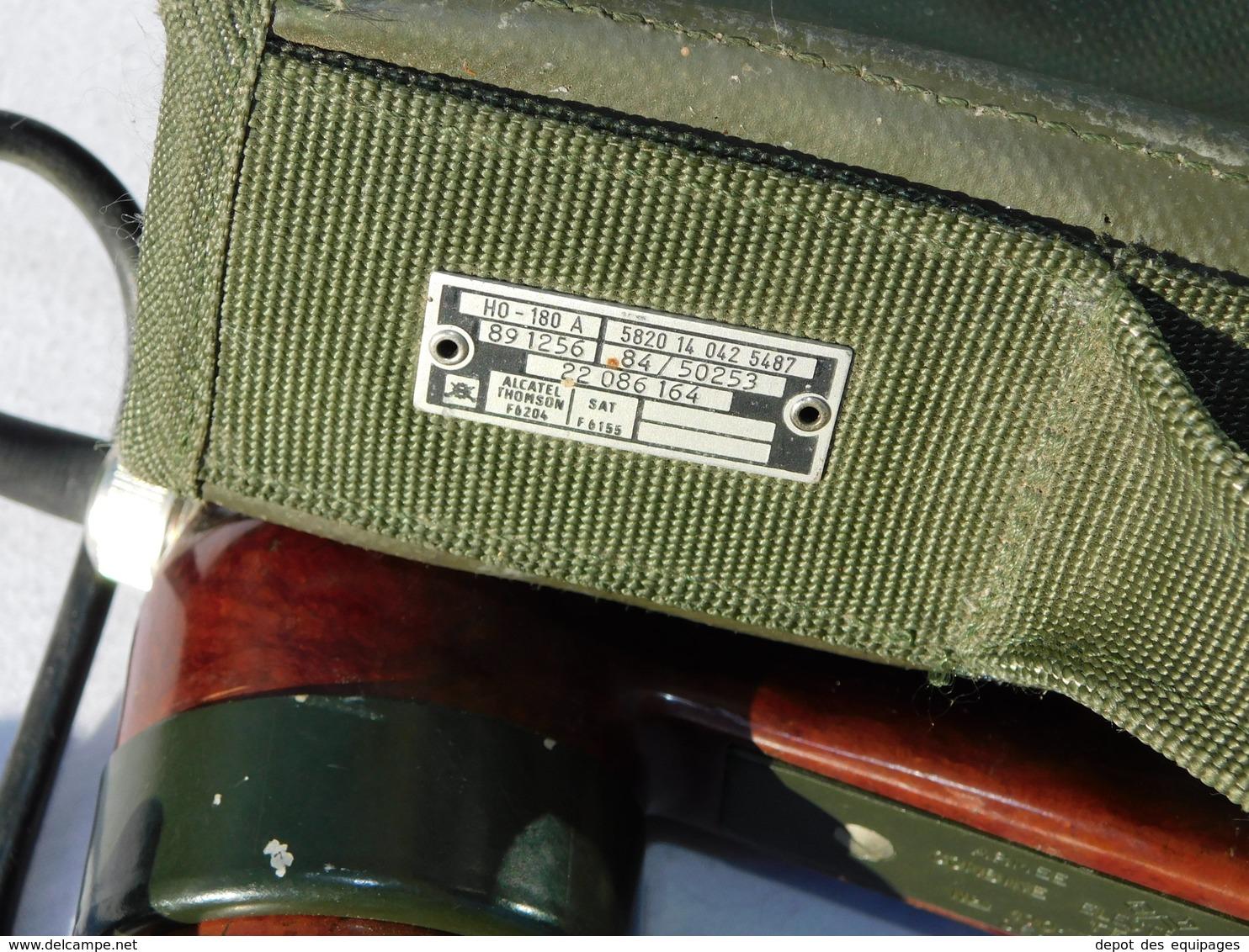 LOT 3 COMBINES RADIO TELEPHONIQUES ARMEE FRANCAISE + SACOCHE - Radio