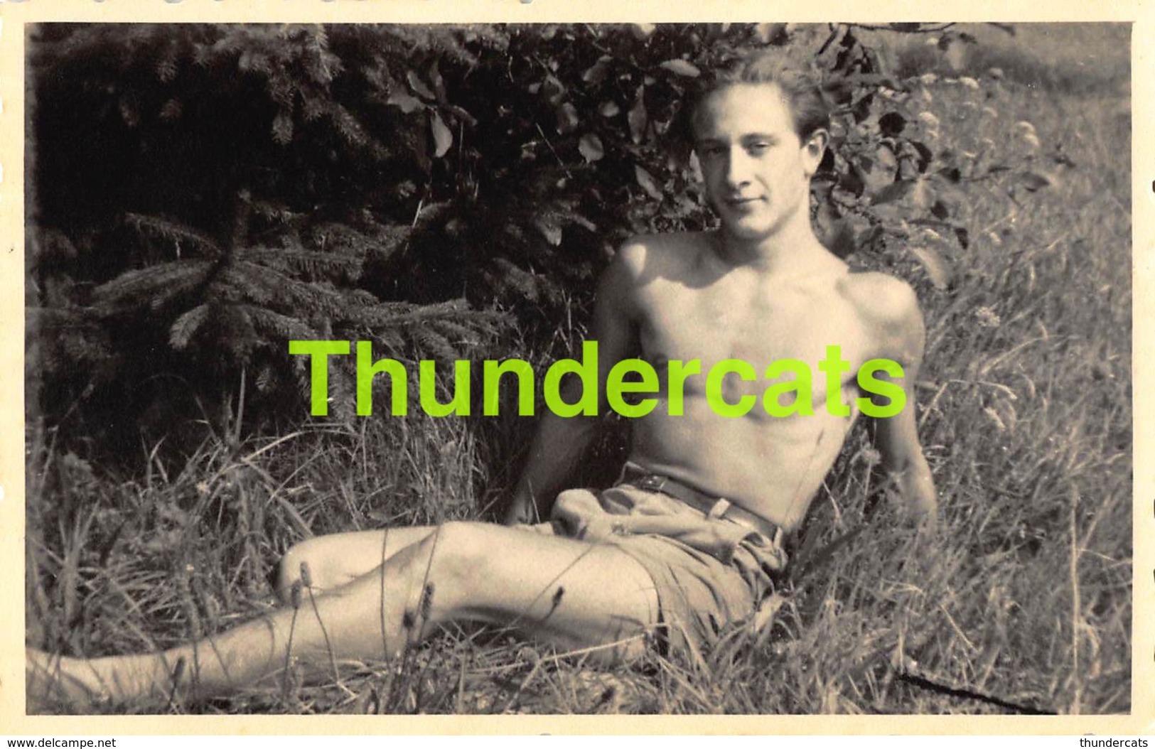 CARTE DE PHOTO JEUNE HOMME NU YOUNG MAN GUY NUDE GAY - Personnes Anonymes