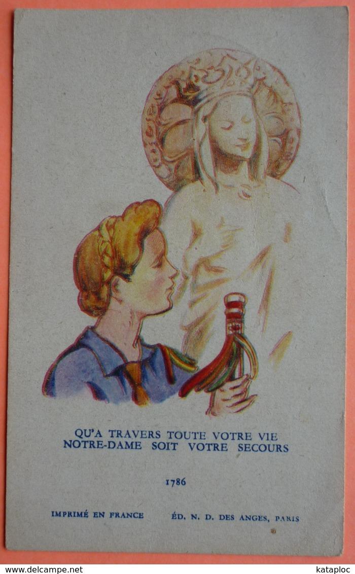 IMAGE SCOUTISME - QU' A TRAVERS TOUTE NOTRE VIE... - SCOUT - SCAN RECTO/VERSO - Images Religieuses