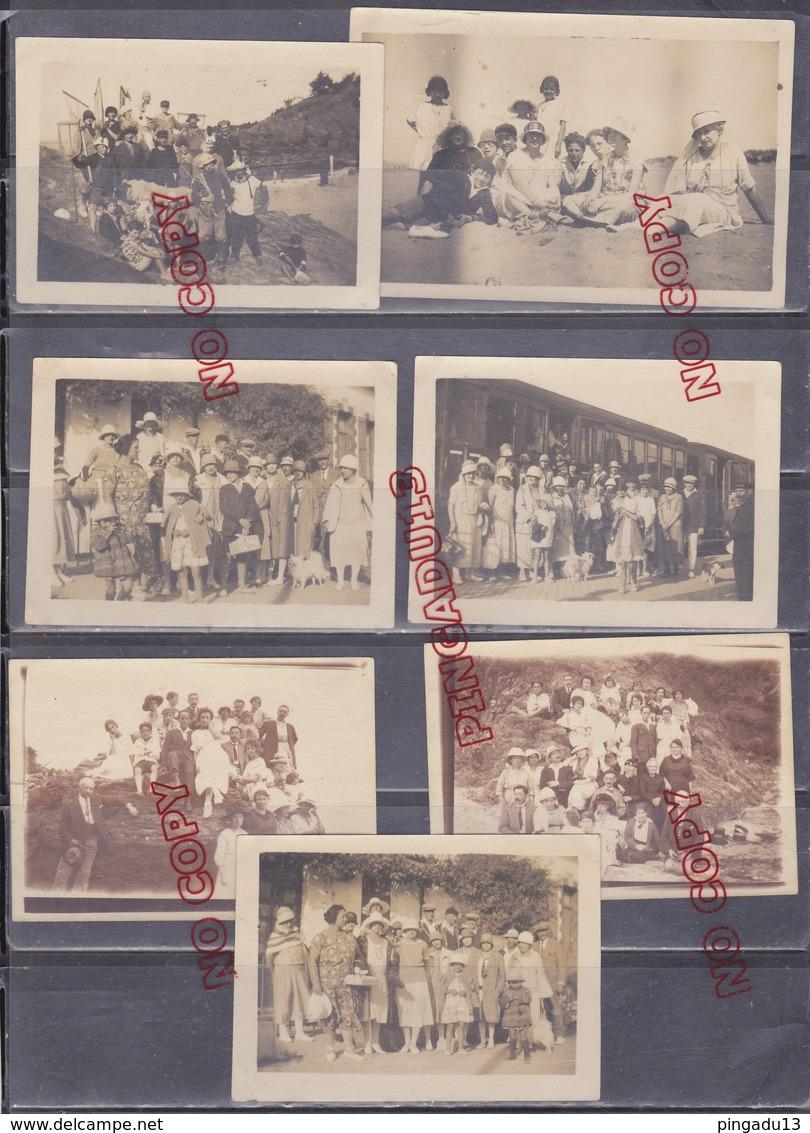 Au Plus Rapide 1924-1925 Pornic Birochère Quais De Gare Train - Places