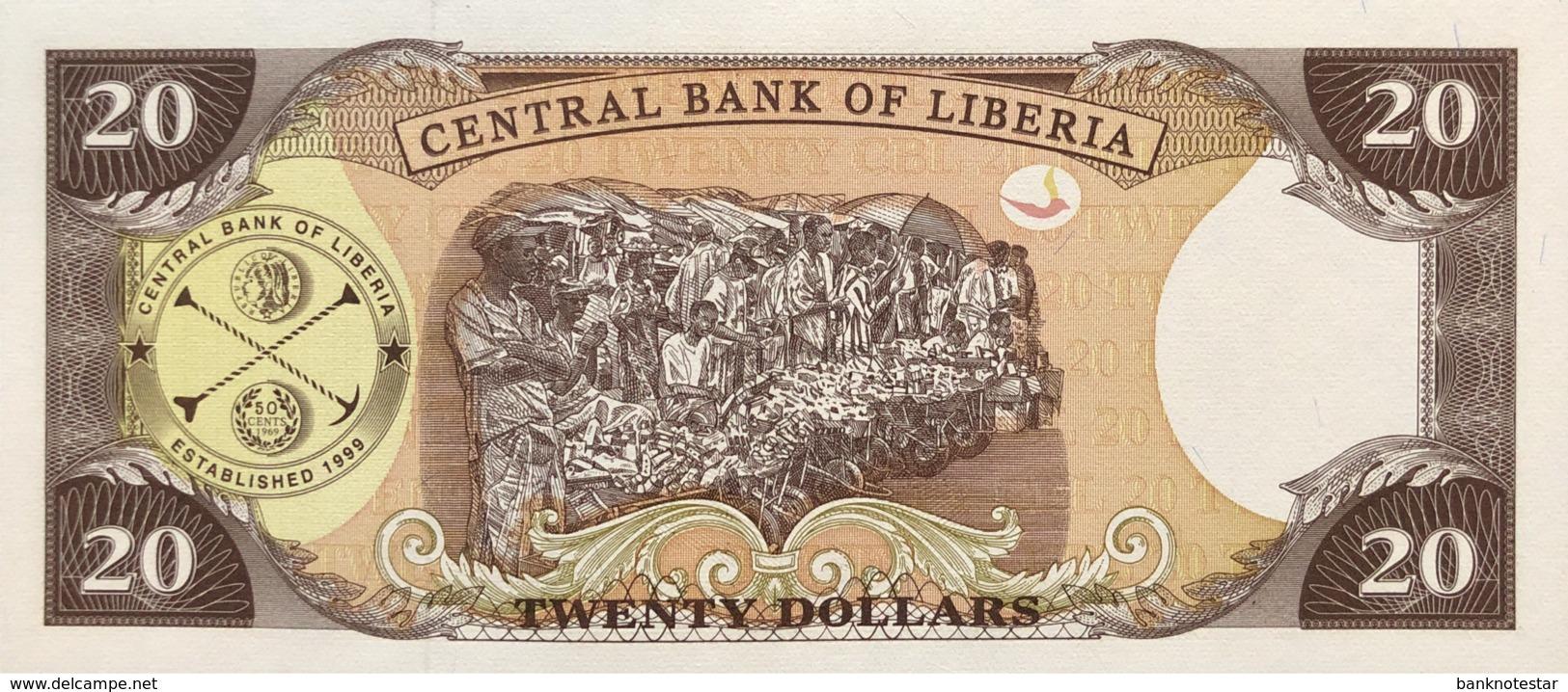 Liberia 20 Dollars, P-28b (2004) - UNC - Liberia