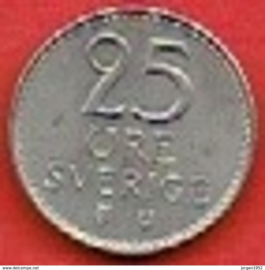 SWEDEN #  25 ØRE FROM 1967 - Suède