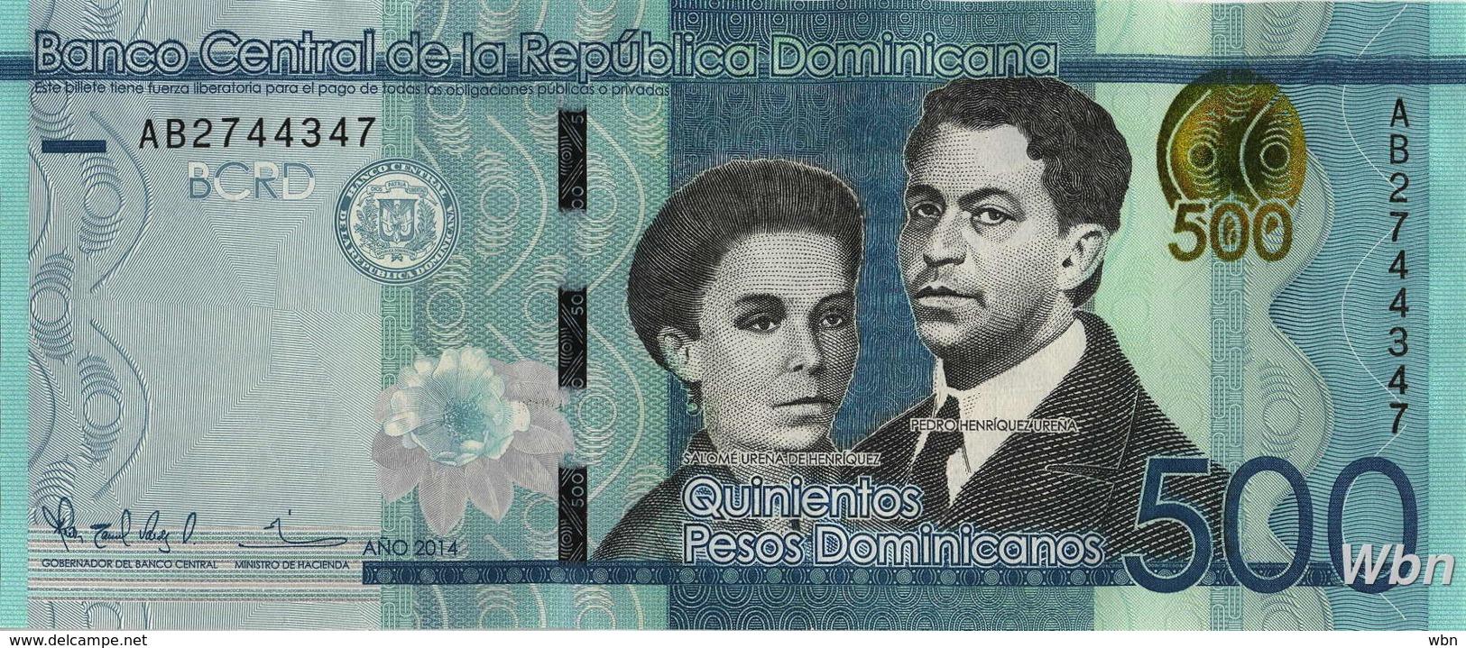 Dominican Republic 500 Pesos (P192) 2014 -UNC- - Dominicaine