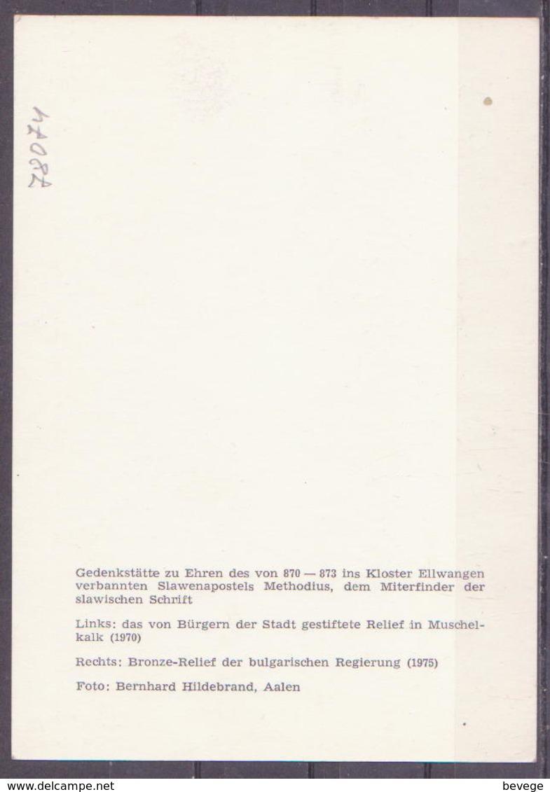 78-074 / BRD -  KLOSTER ELLWANGEN   BRONZE - RELIEF Von METODIUS  Miterfinder Der Kyrilischen Schrift !! - Ellwangen