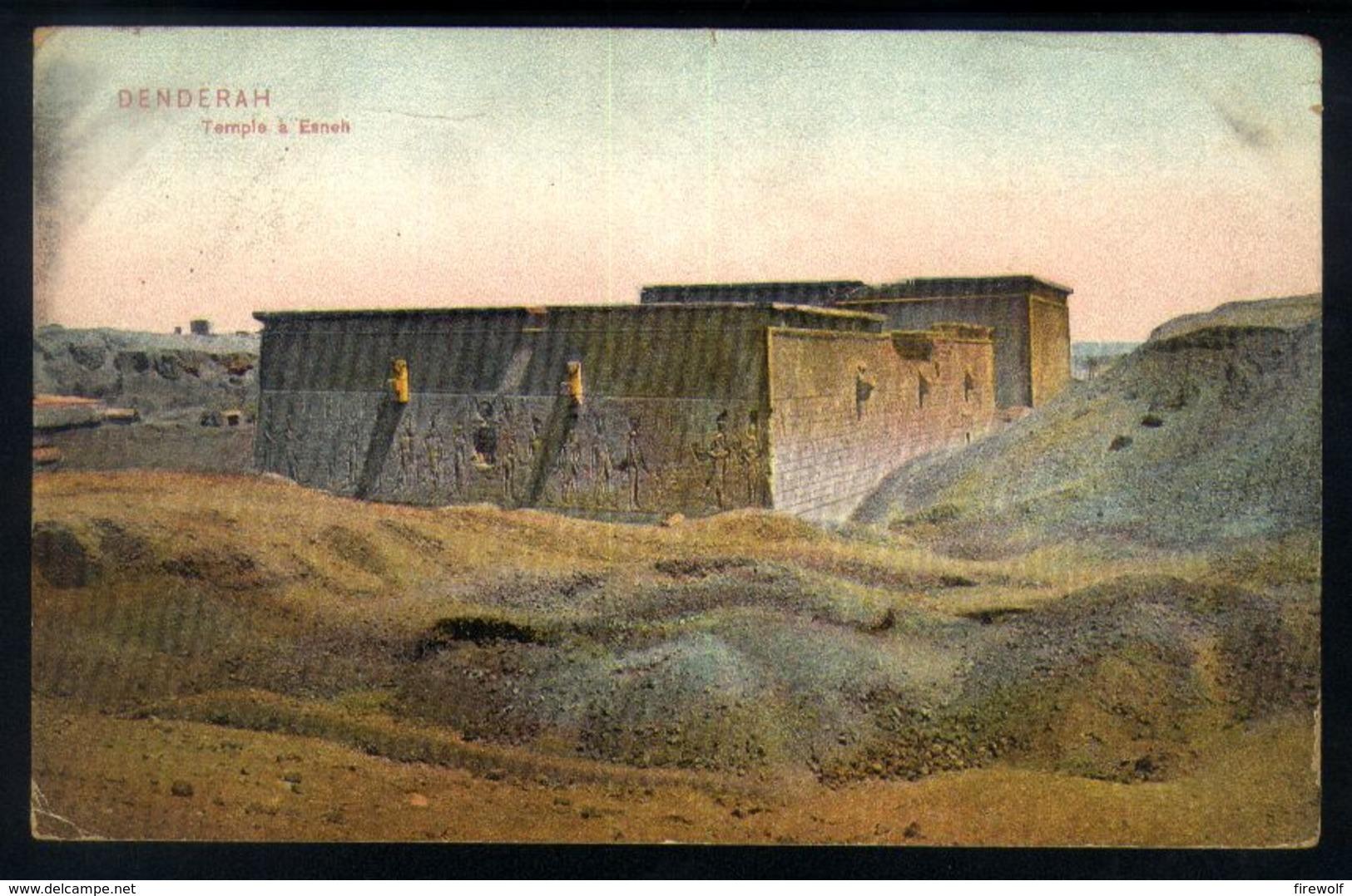 X05 - Egypt - PC Luxor Winter Palace To New York USA - 1909 - Denderah Temple A Esneh - Ägypten