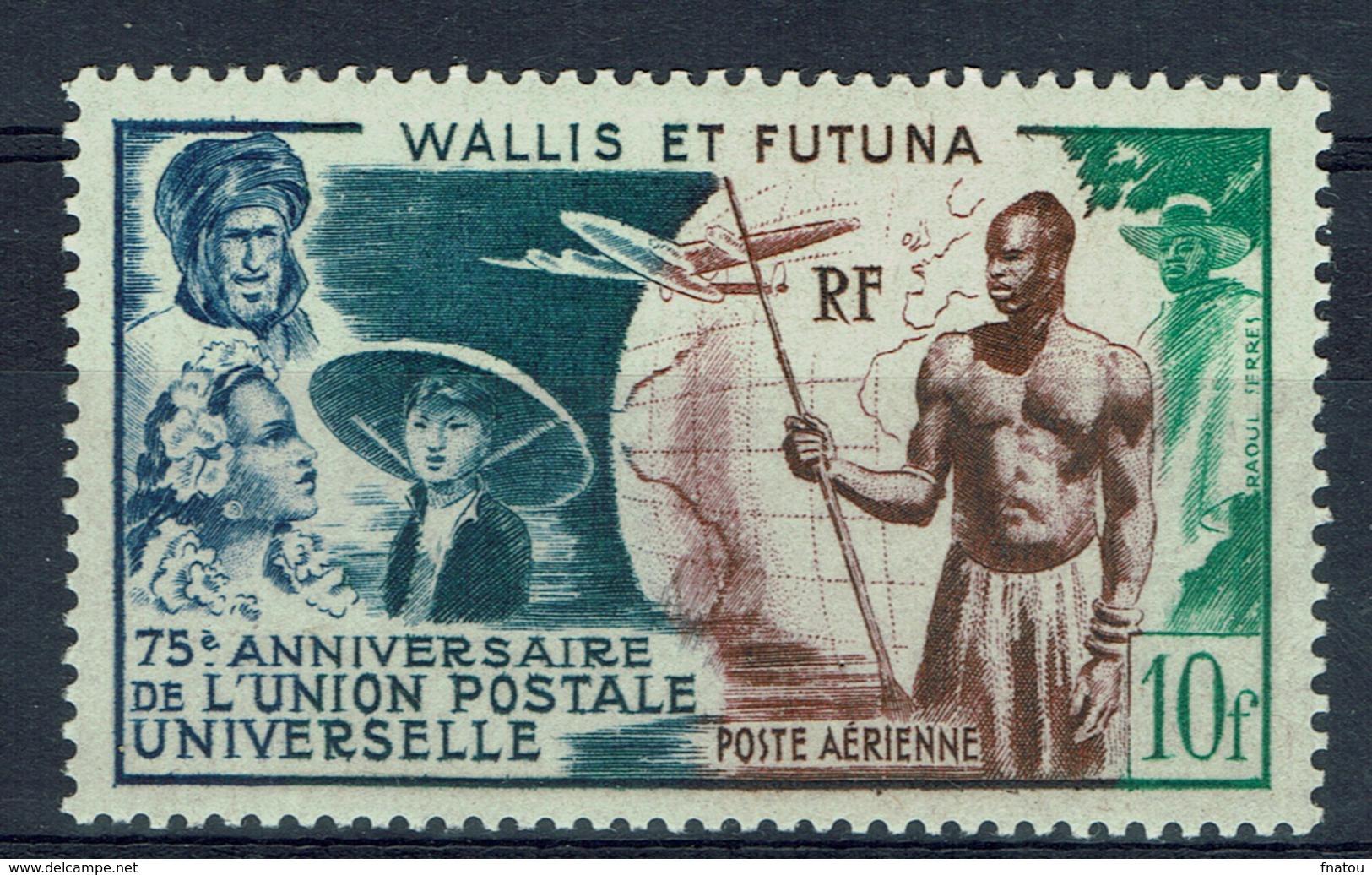 Wallis And Futuna, Universal Postal Union, 1949, MH VF - Airmail