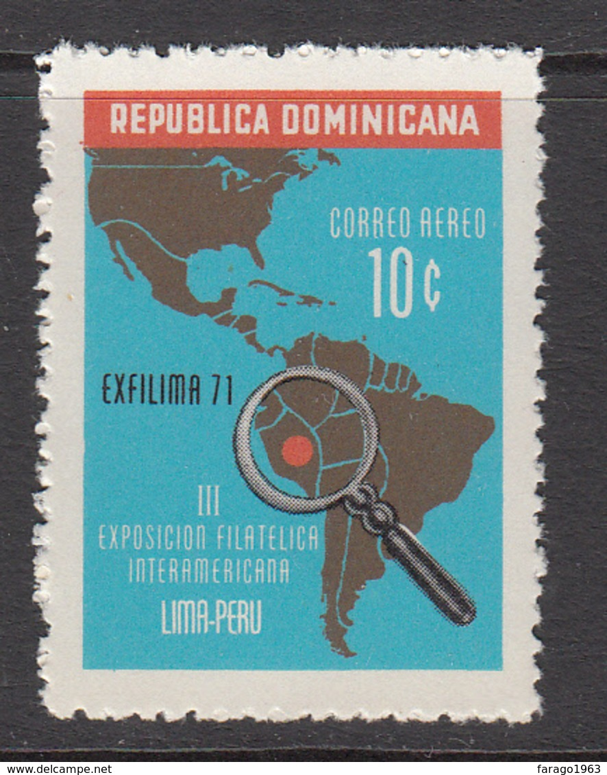 1972 Dominican Republic Dominicana Philately Maps  Complete Set Of 1 MNH - Dominikanische Rep.