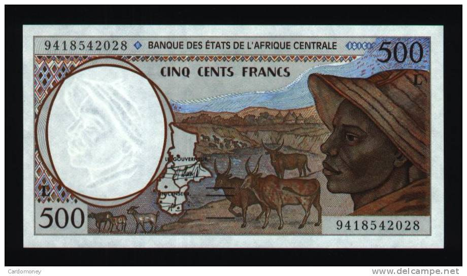 500 Francs Gabon 1994 NEUF - UNC (N°:142-1) - Gabon