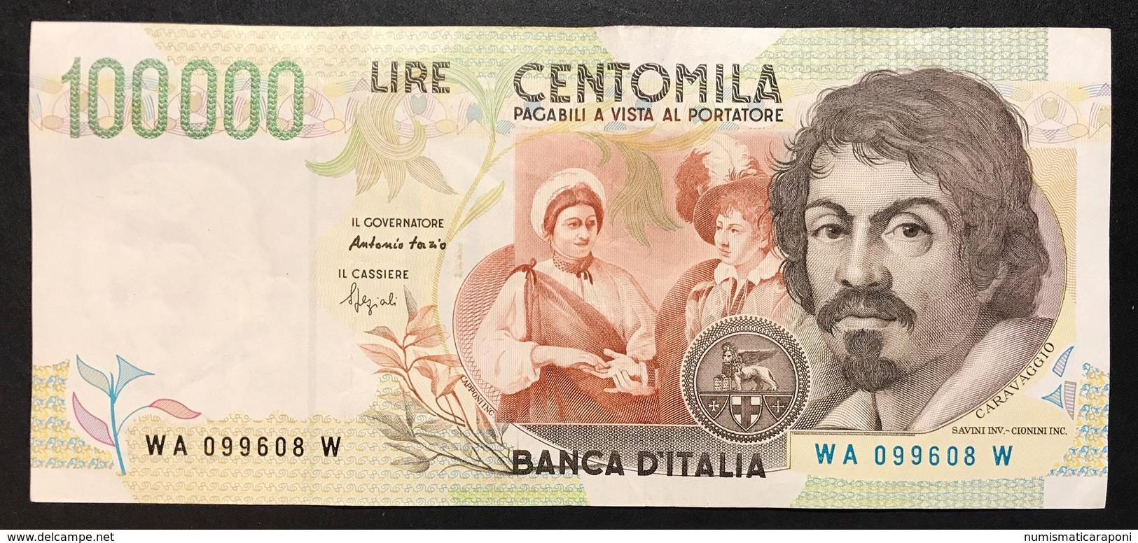 100000 Lire CARAVAGGIO 2° TIPO SERIE A 1994  LOTTO 2160 - [ 2] 1946-… : Republiek