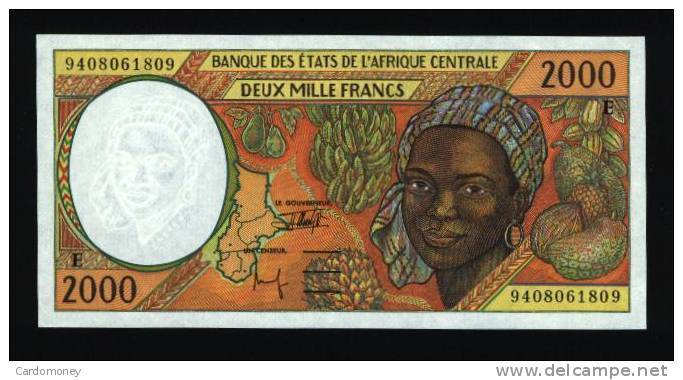 2000 Francs CAMEROUN 1994 NEUF - UNC (N° 260-2)) - Camerún