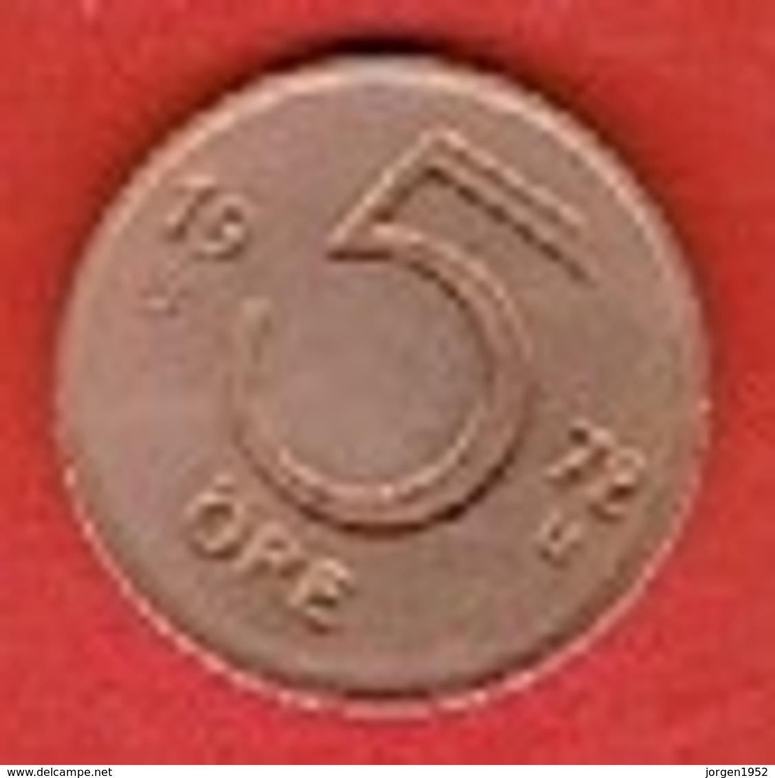 SWEDEN #  5 ØRE FROM 1972 - Suède