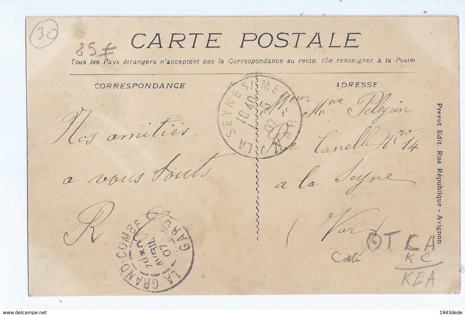 Cpa -   Dpt  -  Gard -  - La Grand Combe  - - Rue Salavert  -     - Animation (  Selection  )  Rare -1907 - - La Grand-Combe
