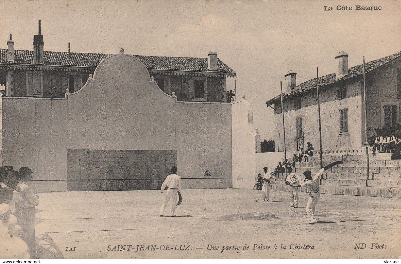 Une Partie De Pelote à La Chistera - Saint Jean De Luz