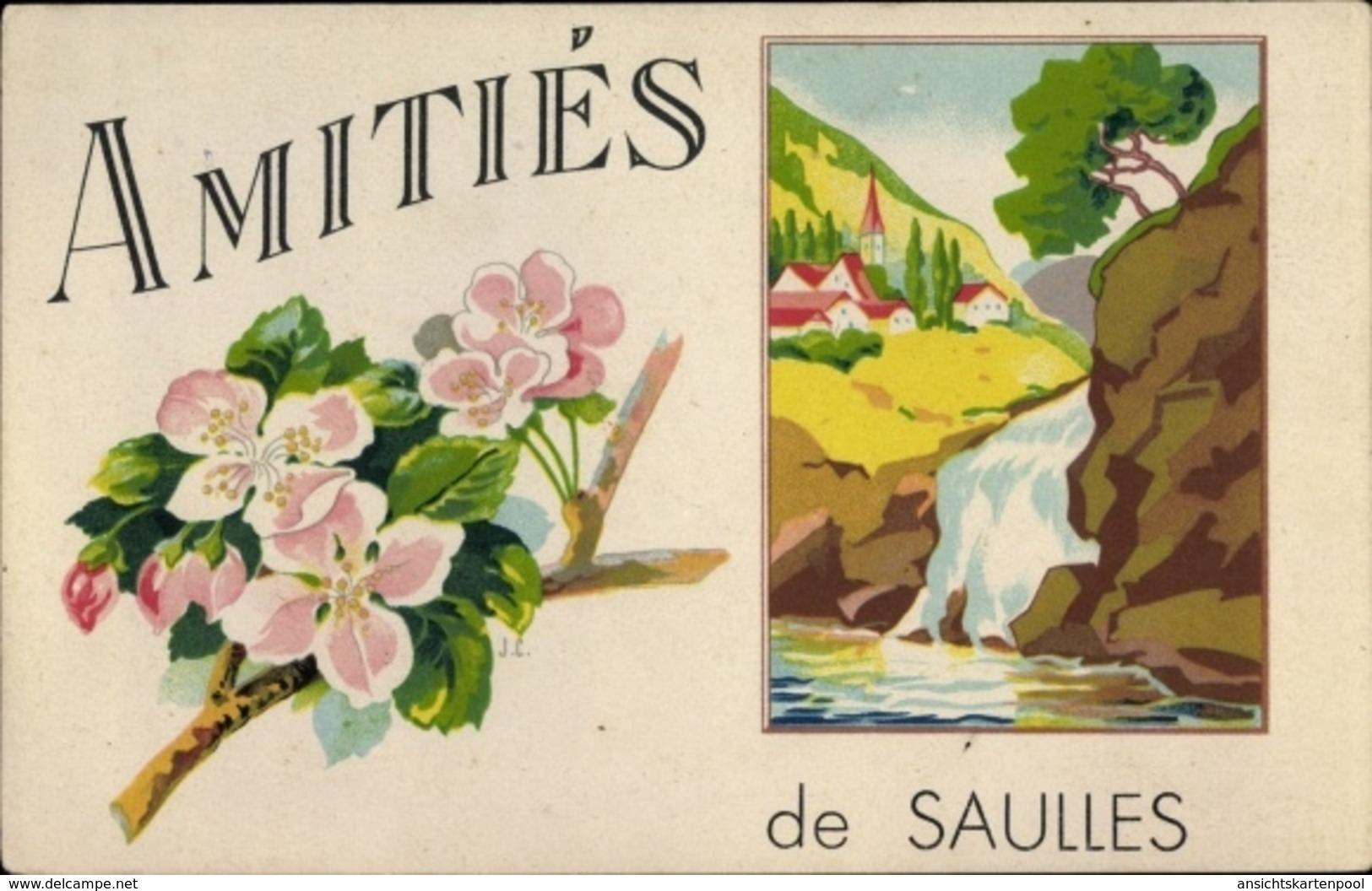 Artiste Cp Saulles Haute Marne, Amitiés - Autres Communes