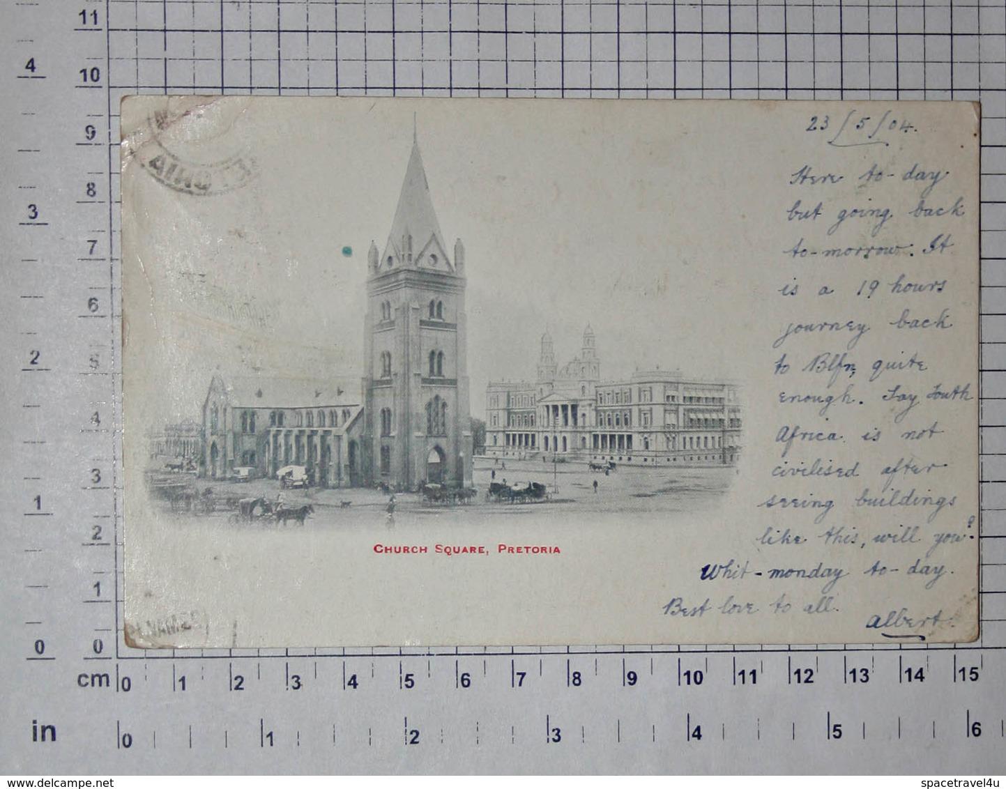 Republic Of South Afrika - Pretoria , Church Sqare, 1904.  Vintage Postcard - (APAT2-123) - South Africa