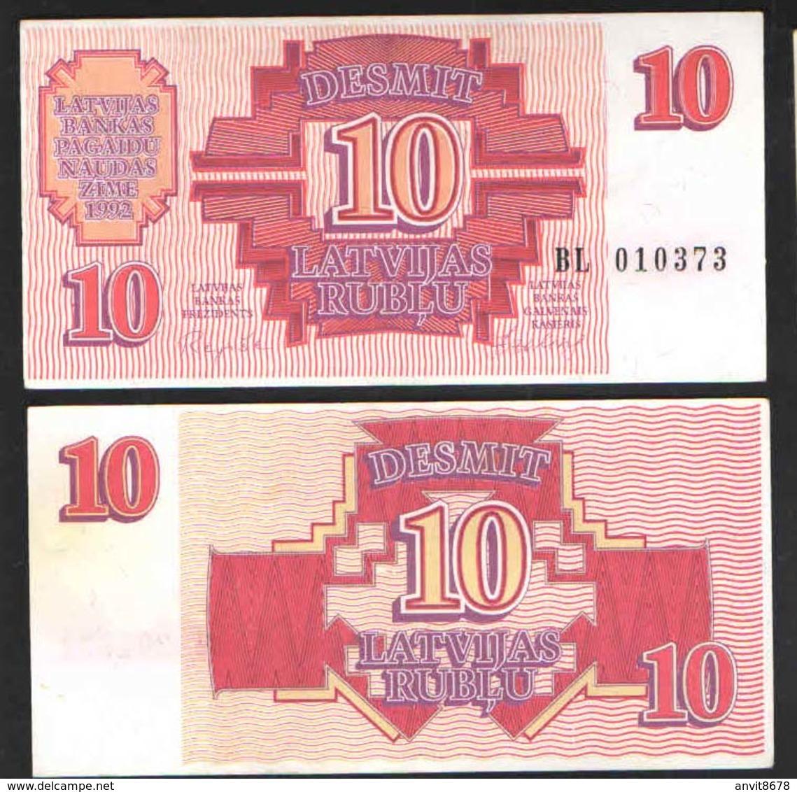 ЛАТВИЯ 10   1992 UNC - Latvia