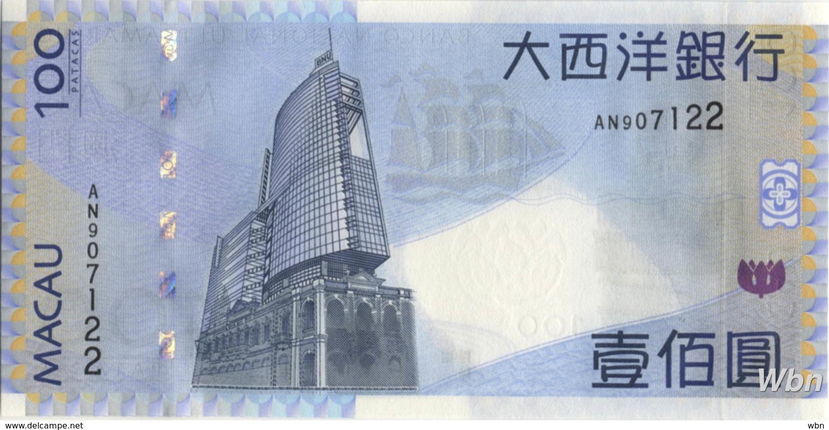 Macau (BNU) 100 Patacas (P82) 2005 -UNC - - Macao