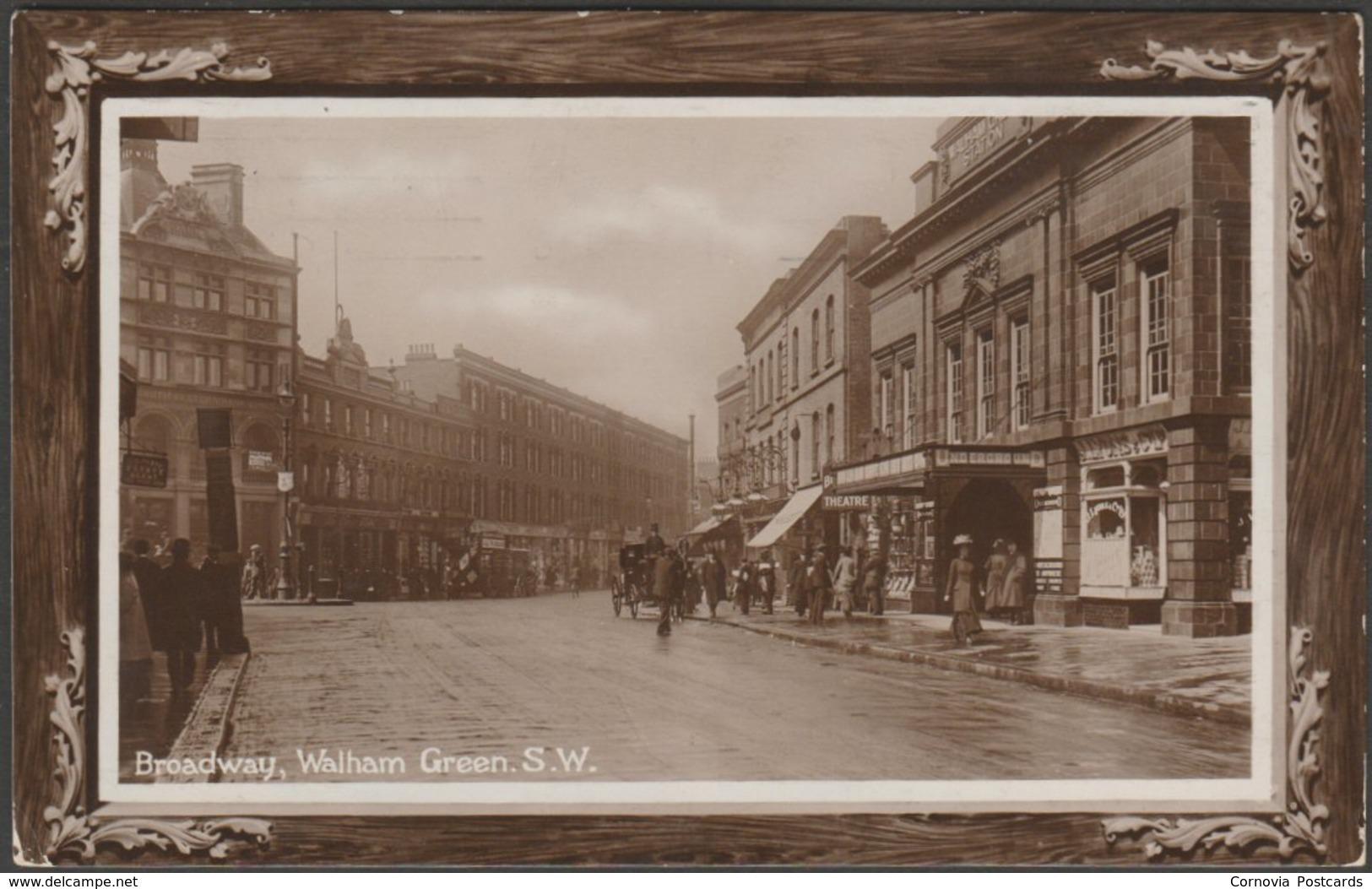 Broadway, Walham Green, London, 1911 - Temperton RP Postcard - London Suburbs