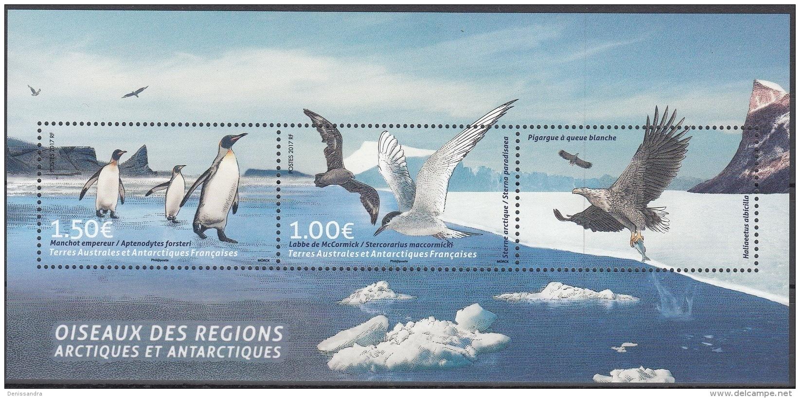 TAAF 2017 Bloc Feuillet Oiseaux Neuf ** - Blocks & Sheetlets