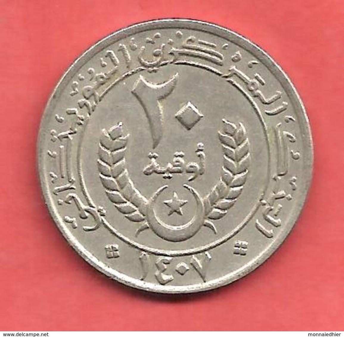 20 Ouguiya , MAURITANIE , Cupro-Nickel , 1987 , N° KM # 5 - Mauritanie