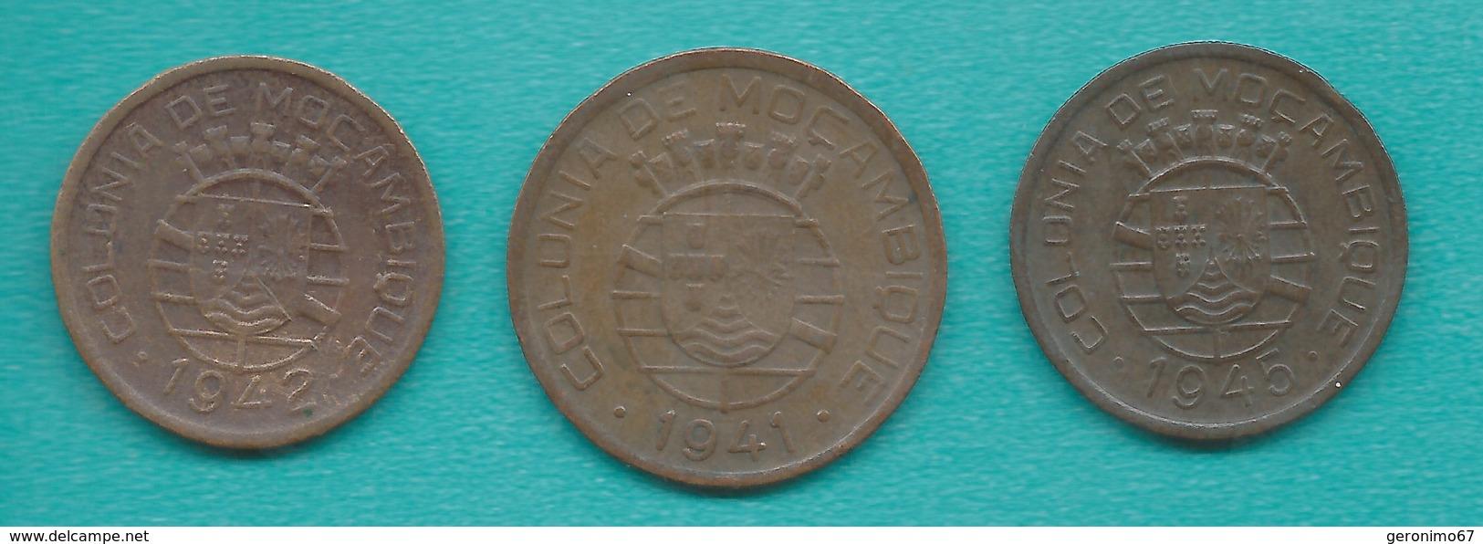 Mozambique - Portuguese Colony -  10 - 1942 (KM72); 20 - 1941 (KM71) & 50 Centavos (1945) KM73 - Mozambique
