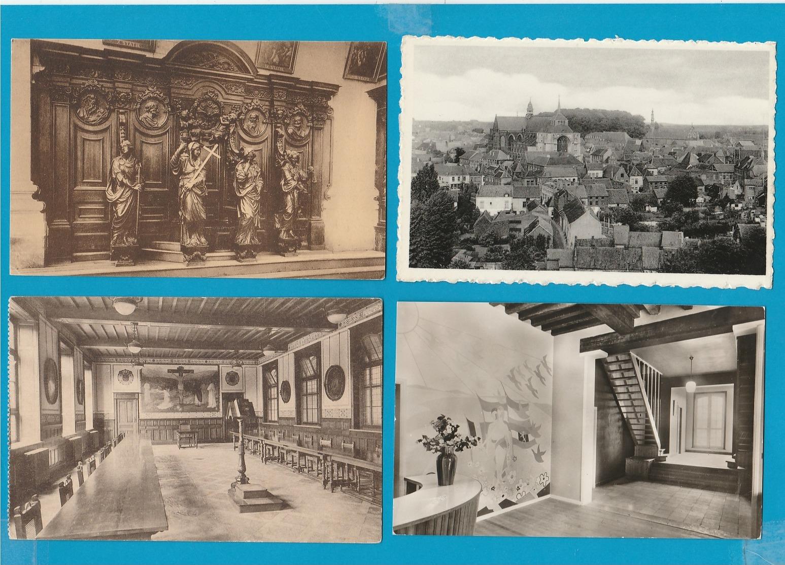 BELGIË Bergen, Villers La Ville, Diest, Grimbergen, Halle, Zoutleeuw, Lot Van 59 Postkaarten. - Postkaarten