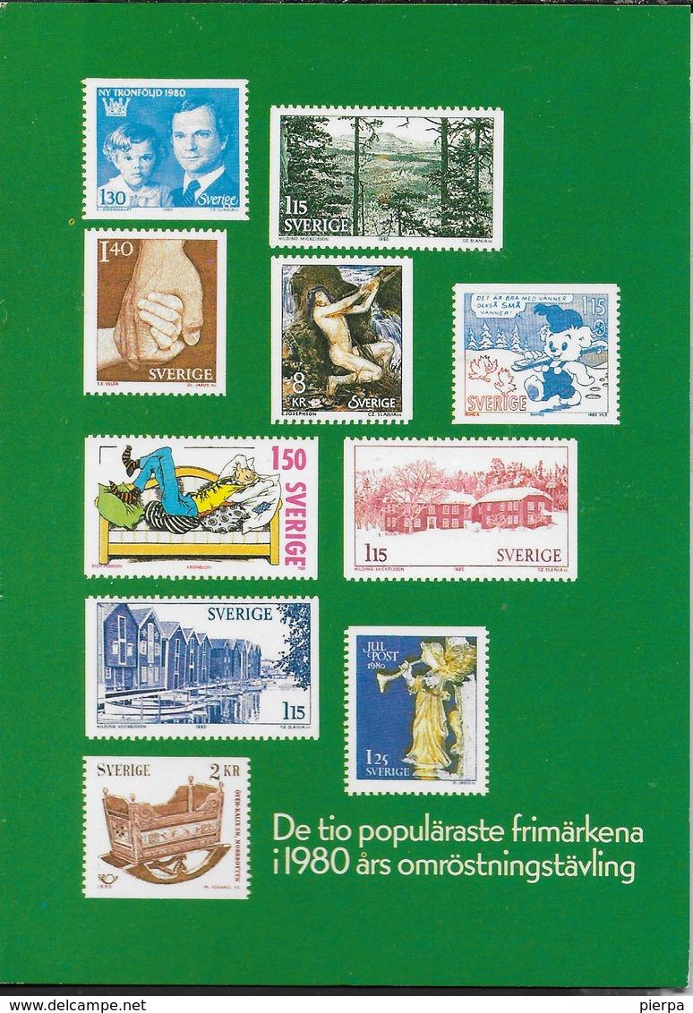 SVEZIA - 10 MIGLIORI FRANCOBOLLI 1980 - NUOVA - Francobolli (rappresentazioni)